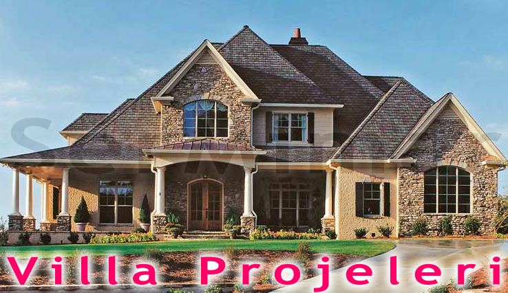Tek Katlı Ev Villa Planı Projesi Çizimi, Villa Projeleri, Villa Proje Çizim