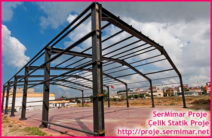Fabrika Binası Çelik Projesi, Çelik yapı statik proje , çelik yapı proje , çelik çatı statik proje ,çelik çatı proje işleri